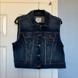 NWT TORRID DISTRESSED COLLAR DENIM VEST